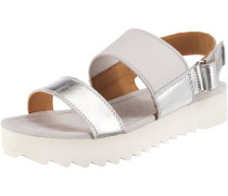 Sandale silber / offwhite