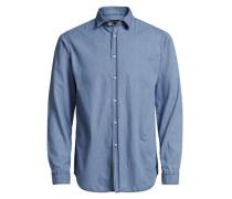 Langarmhemd Minimaljeans blau