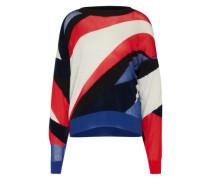 Leichter Pullover 'Blanca' blau / rot / schwarz / weiß