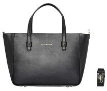 Tasche 'city Leather Tote' schwarz