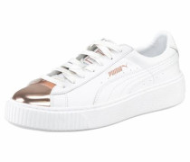 Sneaker »Basket Platform Metallic« rosegold / weiß