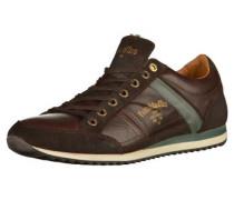 Sneaker dunkelbraun / petrol / weiß