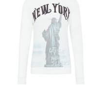 Sweatshirt 'msw Liberty round' weiß