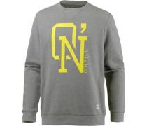 'o'n Crew' Sweatshirt zitrone / grau
