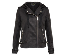 Übergangsjacke 'leather Effect With Vlvet&rib'