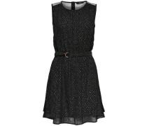 Detailreiches Kleid ohne Ärmel schwarz