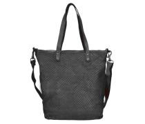 Bardana Shopper Tasche Leder 28 cm schwarz