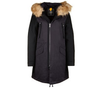 Parka Mixed Fake FUR schwarz