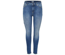 Skinny Fit Jeans 'Blush Mid Ankle Raw'
