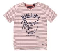 T-Shirt 1/4 Armlänge Miniringel Jungen Kinder braun