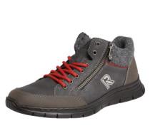 Sneaker im Materialmix graphit