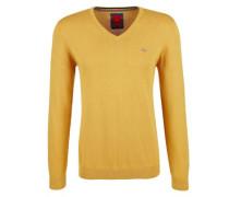 Pullover mit V-Ausschnitt gelb