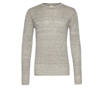 Home Alone crew neck cotton linen knit grau