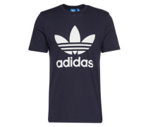 T-Shirt mit Rundhalsausschnitt dunkelblau / weiß