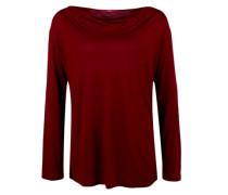 Shirt mit Wasserfall-Ausschnitt rot