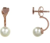 Paar Ohrstecker 'Herz Pearl Love C7143E/90/46/' rosegold / perlweiß