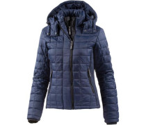 Steppjacke 'hooded BOX Quilt Fuji Jacket' navy