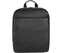 Rotterdam 5 Rucksack Leder 40 cm Laptopfach schwarz