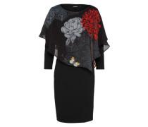 Kleid 'alexandre' rot / schwarz / offwhite