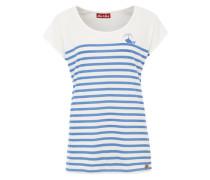 Printshirt 'Blue Whale' weiß