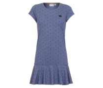 Female Dress 'Auf Detlef caktir II' blau / schwarz