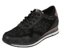 Sneaker mit viel Glitzer schwarz