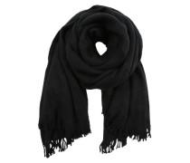Schal mit Fransenrand schwarz