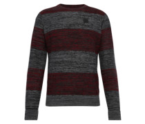 Pullover 'Vari Block Knit' anthrazit / rot