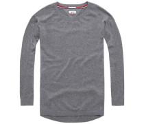 Pullover 'thdw Basic CN Sweater L/S 1' grau