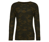 Pullover mit Camouflage-Muster 'Patio' oliv