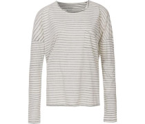 Langarmshirt grau / weiß