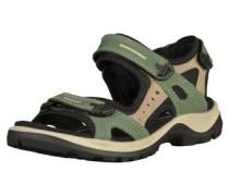 Sandalen hellbeige / grün / schwarz