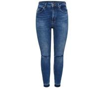Skinny Fit Jeans Coral High Knieschnitt-Knöchel- blau