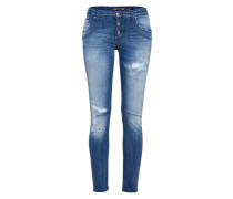 Jeanshose 'Destroyed Denim' blue denim