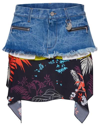 Rock 'O-Briella Skirt' blue denim / schwarz