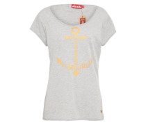 T-Shirt 'seaside' graumeliert