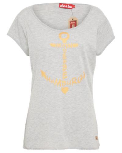 T-Shirt 'seaside' graumeliert