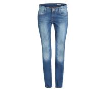 Slim Fit Jeans mit Waschung blau