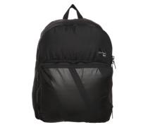 Rucksack mit Streifen-Print schwarz