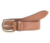 Leder-Jeans-Gürtel hellbraun