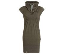 Jerseykleid aus Baumwollmix grün