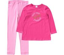 Schlafanzug für Mädchen pink