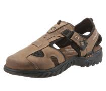 Sandale mit Klettverschluss beige