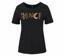 Rundhalsshirt 'dance' schwarz