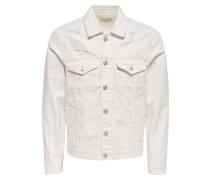 Destroyed-Effekt-Jeansjacke weiß