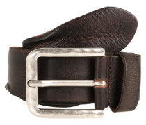Ledergürtel in Vintage-Optik dunkelbraun