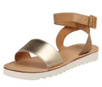 Sandale 'Taribu' beige / gold
