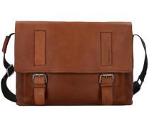 Turnham Messenger Leder 40cm Laptopfach braun / schwarz