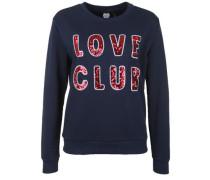 Sweatshirt 'love Club' nachtblau