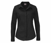 Klassisches Langarmhemd schwarz